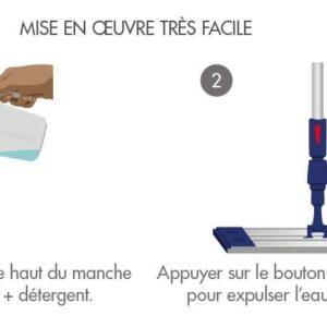 Balai Réservoir Trapèze Aluminium -